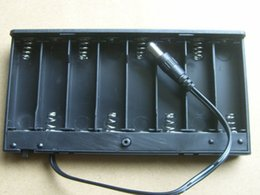 Wholesale Led Switch Cover - Wholesale 8 AA Cells Battery 12V Clip Holder Box Case with Cover ON OFF Switch Wire Lead