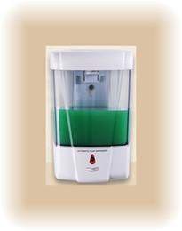 Wholesale Liquid Bath Dispenser - Household bathroom wall-mounted fully-automatic sensor soap dispenser soap box hand sanitizer battery style plastic bath liquid box 600ml
