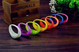 Wholesale Wristband Pvc - Music Activated Brightness voice control led flashing bracelet led flashing silicone led bracelet wristband for cheer party D868