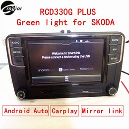 "Wholesale Radio Auto Android - Car dvd 6.5"" MIB RCD330 RCD330G Plus Green back light For Skoda Rapid Octavia Fabia support Android auto Carplay Mirror link"