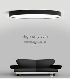 Wholesale Rc Lamp - RC Dimmable UltraThin 5cm Led Ceiling Lamp living room Lamp Modern Simple bedroom Lamp dining room Ceiling Lights Plafondlamp