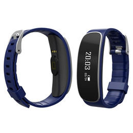 """Wholesale Oled Display Bracelet - New arrival 0.66"""" oled display screen heart rate wristband monitor the sports and sleeping IPX5 waterproof bluetooth smart bracelet"""
