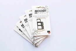 Wholesale Iphone Adapters Pin - NOOSY Nano Sim & Micro Sim & Standard Sim Card Convertion Converter Nano Sim Adapter Micro sim Card For Iphone 6 Plus All Mobile Devices S15