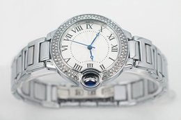 Wholesale Women Watches Style - New Hot seller Fashion Style Women man Watch Lady Watch silver case Diamond Steel Bracelet Chain Luxury lovers Watch High Quality watches
