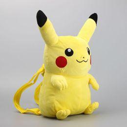 30 cm 3D Anime Pikachu Plüsch Rucksack Nette Gefüllte Weiche Puppen Kinder Weihnachtsgeschenk Cartoon Baby Snack Taschen Schultaschen 10 stücke DHL PKC046 von Fabrikanten