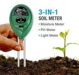 Wholesale Water Ph Test - 3-in-1 Soil Moisture Meter Light and PH Test Function Garden Plant Soil Water Hydroponics Analyzer Detector Humidity