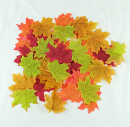 Maple Leaves Artificiale parete decorazione della casa di nozze DIY scrapbooking caduta di autunno sfondo Foglie decorative supplier maple leaf sticker da autoadesivo foglia d'acero fornitori