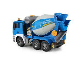 Wholesale Cement Truck Toy - Double eagle wireless remote control truck mixers large rechargeable children toy car cement concrete pump truck
