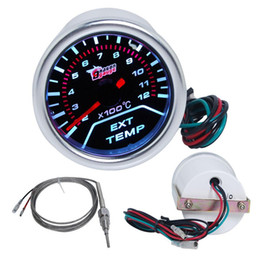 "Wholesale Exhaust Gas Temp - 2"" (52MM) MECHANICAL EXHAUST GAS TEMP GAUGE   WITH SENSOR SMOKE LEN 270 DEGREE SCALE  AUTO GAUGE"