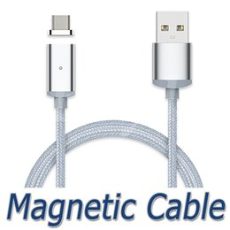 Wholesale Nylon Usb - Magnetic Charging Cable Micro USB Cable Nylon Braided High Speed Type c Charger 3.3ft 1M For Android Samsung Phone With Retail Package