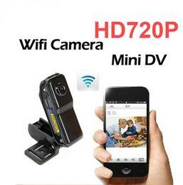 enregistrer la webcam vidéo Promotion MD81 CMOS HD P2P Caméra Sans Fil Sécurité Enregistrement Mini IP CCTV WiFi Caméra Android iOS Caméscope Vidéo Surveillance Webcam