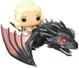 Wholesale Role Games - Funko POP Game of Thrones Figures Dragon & Daenerys Rides Dragon Action Figure With Box Children Gift