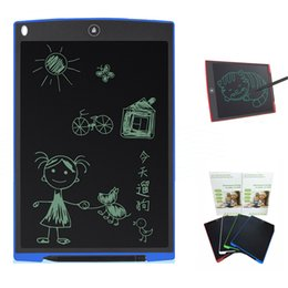 Wholesale Writing Boards Kids - 12 inch LCD Writing Tablet Drawing Board Blackboard Handwriting Pads Gift for Kids Paperless Notepad Whiteboard Memo With Upgraded Pen 1 PCS