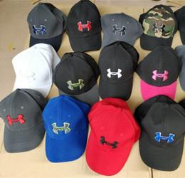 Wholesale Wholesale Summer Hats For Women - Unisex UA Snapback Caps Baseball Ball Cap Hat Casual Brand UA Sports Hip-hop Hats Fixed Casquette Cap for Men Women 18 Colors to choose