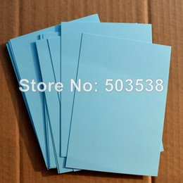 Wholesale Wedding Invitation Sky Blue - Wholesale- 100PCS LOT,Sky blue blank cards.Paper crafts.Handmade invitation cards,Create your own cards,DIY wedding cards,15.5x10.8cm