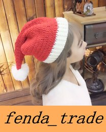Wholesale Check Dhl - New Christmas hat Handmade knitted hats Autumn and winter bearded hat Hats and beards can be separated DHL fast Quality AAA+ MOQ=50