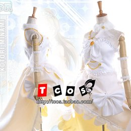 Wholesale Kotori Anime - Wholesale-Love Live! Cosplay Minami Kotori Costume Women's Dress Wedding Gown Rode Evening Dress