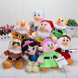 "Wholesale Seven Dwarfs Plush Wholesale - 80pcs Lot The Snow White Princess and 8"" Seven Dwarfs Soft plush Doll Toys set 1206#06"