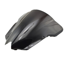 Wholesale Windscreen Yamaha - free shipping Motorcycle Double Bubble Windscreen Windshield for YZF R6 2008-2012 2009 2010 2011 YZF600 Black