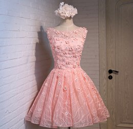 Wholesale Mini Quinceanera Dresses - Pink evening dresses party dresses 2016 new wedding dress bridesmaid dress sisters bridesmaid dress host dress tutu summer free shipping