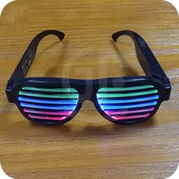 Wholesale Music Activated - Novel Sound Sensitive Light up Glasses Music activated el wire for music party, dancing, club, Halloween Christmas costumes party LED Toys