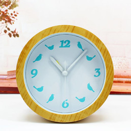 Wholesale Bird Mechanical - Natural wood logs taste Birds alarm clock simple pastoral fashion when the desktop stand mute desktop watch clock free shipping