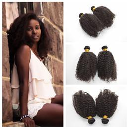 Billige lockige haareinschlagfäden online-Billige mongolische Menschenhaar-Schussfäden 3c, 4a, 4b Afro Kinky Curly Hair spinnt menschliche Haarverlängerung 6 Bundles Lot G-EASY