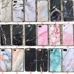 Wholesale iphone protective skins - Marble Phone Case Full Protective TPU Skin Back Painted Cover for iPhone 10 X 8 7 6s 6 Plus