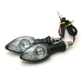 Wholesale turn signal flasher for motorcycle - Amber LED motorcycle turn signal Lights 12V Indicators Flashers For honda bobber yamaha suzuki