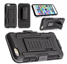 Wholesale Future Apple Iphone - Future Armor Impact Hybrid Case For iphone 8 7 7plus 6 6plus Note 8 s8 Case With Belt Clip Holster Kickstand Combo 3 in 1 Case Opp Package