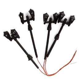 Wholesale Ho Model Train Wholesalers - 10PCS Generic Black HO Scale 1:87 Model Lamppost Double Heads Tower Shape For Street Park Train Layout Model Garden Lamps Landscape Light
