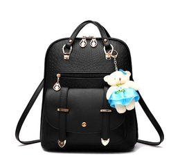 saco de escola coreano de couro Desconto 2017 moda estilo coreano mochila feminina PU mochila de couro mochilas escolares mochila para meninas atacado e varejo