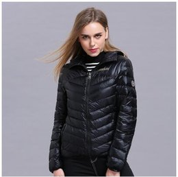 Wholesale Napapijri Outdoor - Hot! napapijri Women Down jacket Fashion new outdoor Cultivate one's morality hooded Brief paragraph Ultra thin and light Women down jacket