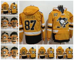 Wholesale Grey Hooded Sweatshirt - 2017 Stadium Series Pittsburgh Penguins Jeresys Hoodies 87 Sidney Crosby 58 Kris Letang 71 Evgeni Malkin Hockey Jersey hooded Sweatshirt