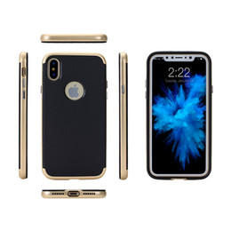 Wholesale Carbon Fiber Key Case - Ultra slim thin electroplated key carbon fiber pc tpu cell phone case for Iphone 8 Samsung galaxy S8 S8plus cover cases
