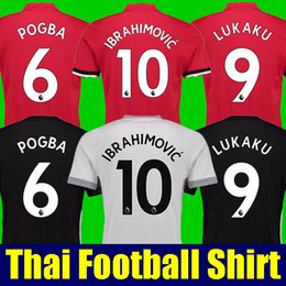 Wholesale Manning S - Thai quality POGBA soccer shirts 2017 2018 Man Utd soccer jerseys 17 18 football shirt IBRAHIMOVIC RASHFORD MKHITARYAN LUKAKU JERSEY united