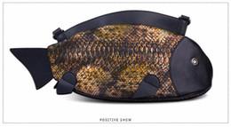 Wholesale Fish England - 2016 New Stylish PU Leather Animal Printing Fish Men Women Clutch Bag Crossbody Shoulder Bag Messenger Bags Beach Bag Bolsas 1622