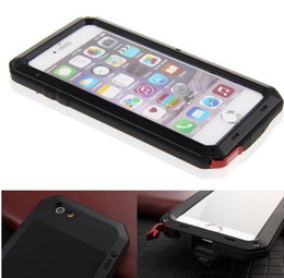 Wholesale Iphone Gorilla Glass Cases - For iphone 5s 6s 7 Plus Cover Case Extreme Armor Aluminum Silicone Gorilla Metal Glass screen Protection Waterproof Shockpoof with packag