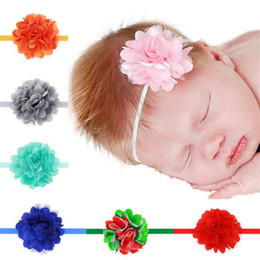 Wholesale Infant Hairbands - Baby Girls Headbands flower Lace Mesh Hairbands babies Infant Toddler Hair Band Head piece Children Hair Accessories Newborn Headwear KHA71