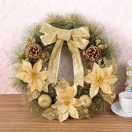 Wholesale Nice Display - Pine Needles Garland Creative Holiday Christmas Decor Display Flower Gift Nice Pattern Wreath Practical Home Ornament Hot 20hy F R