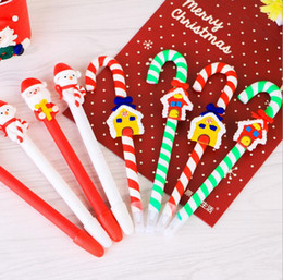 Wholesale Christmas Ball Pens - Christmas polymer clay Crutch pen supplies children's Christmas gift Christmas ball pen two style many color very lovely & practical