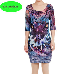 Wholesale Flora Bags - 2018 spring and summer European and American new digital leopard - horse 3D printing dress popular logo sexy elastic bag buttock skirt