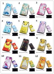 Wholesale Cellphone Wallets - 15styles Poke mon long Zipper wallets Pikachu Eevee Haunter Charmander Dracolosse poke ball zip purse cellphone pouch phone package for kids