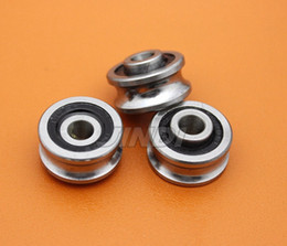 Wholesale U Wheels - 20pcs high quality SG66 textile machinery wheel bearing 6*22*10 mm U groove pulley guide bearings (Double row balls) ABEC-5