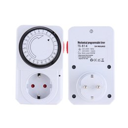 Wholesale Program Timer Switch - New EU Plug 24 Hour Programmable Mechanical Electrical Plug Program Timer Power Switch Energy Saver