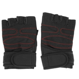 Wholesale Finger Support Gloves - Men Outdoor Half Finger Sports Gloves Antiskid Bicycle Gloves Wearable Fingerless Wrist Support Weight Lifting Gym Gloves