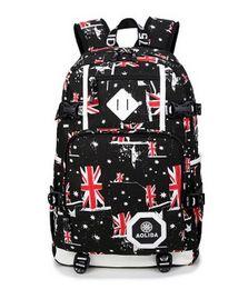 Wholesale British Travel - British girls outdoor travel bag bag computer bag zipper cloth Oxford student backpack. Adjustable shoulder strap. Durable.