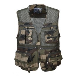 Wholesale Casual Male Camouflage Vest - Fall-2016 High Quality Casual Mesh Outdoor Pocket Photography Camouflage Male Vest