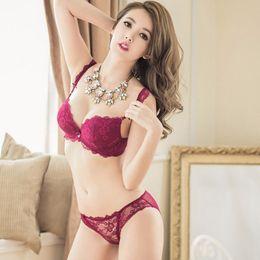 Wholesale Lady Best Bra - Wholesale-Lady Charming Lingerie Lace Bra Suit Bra & Panty Sets Women Hot Underwear Best