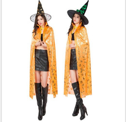 Wholesale xl gril - 120cm sexy women Cloaks kids gril Colorful Halloween cosplay Long Costumes cloak Party decoration lady cape pumpkin skull Costume Cloak